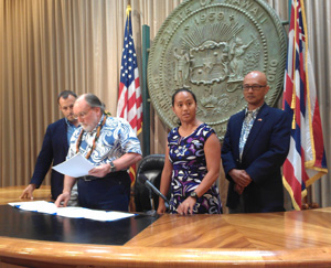 Gov. Abercrombie Signs Two Bills Improving Medical Cannabis Program